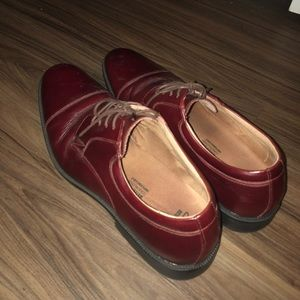 Brown Hard Bottom Shoes; Great Condition!